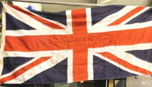 British WWII Union flag, War Department stamped, dated 1943 and named to the Suffolk Regiment,