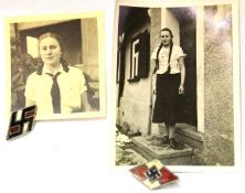 German Third Reich photographs of an unknown female Hitler Youth member, together with two Hitler