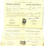American WWII pair of 1945 dated Military Government of Germany occupation passes, each laminated.
