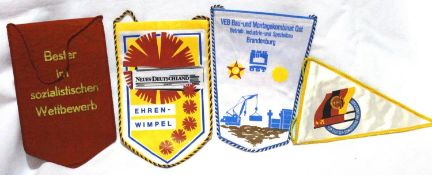 German Cold War era East German collection of pennants. P&P Group 1 (£14+VAT for the first lot