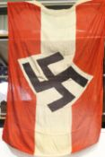 German Third Reich aged reproduction cotton Hitler Youth parade flag, 130 x 90 cm. P&P Group 1 (£