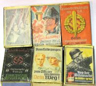 Six WWII German boxes of matches. P&P Group 1 (£14+VAT for the first lot and £1+VAT for subsequent