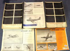 Lockheed Aircraft Association, five posters dating from 1949. P&P Group 1 (£14+VAT for the first lot