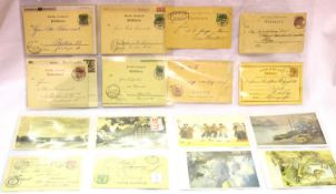 German WWI and later postcards, including photographic and artistic subjects, some used and