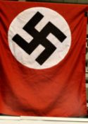 German WWII representation Org Todt cotton flag, embroidered and of three piece construction,