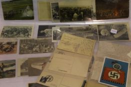 German WWI & II period postcards including photographic and artistic, thirty in total, some