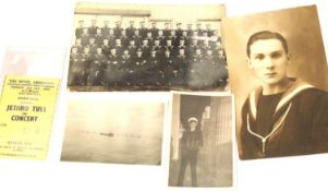 Vintage military photographs including crew of HMS Vincent. P&P group 1 (£14 + VAT for the first lot