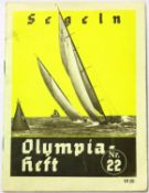 German Third Reich Berlin Olympics 1936 sailing programme. P&P Group 1 (£14+VAT for the first lot