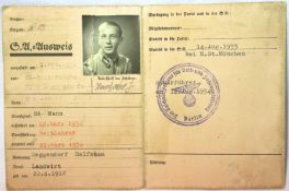 WWII German Third Reich SA Membership book. P&P Group 2 (£18+VAT for the first lot and £3+VAT for