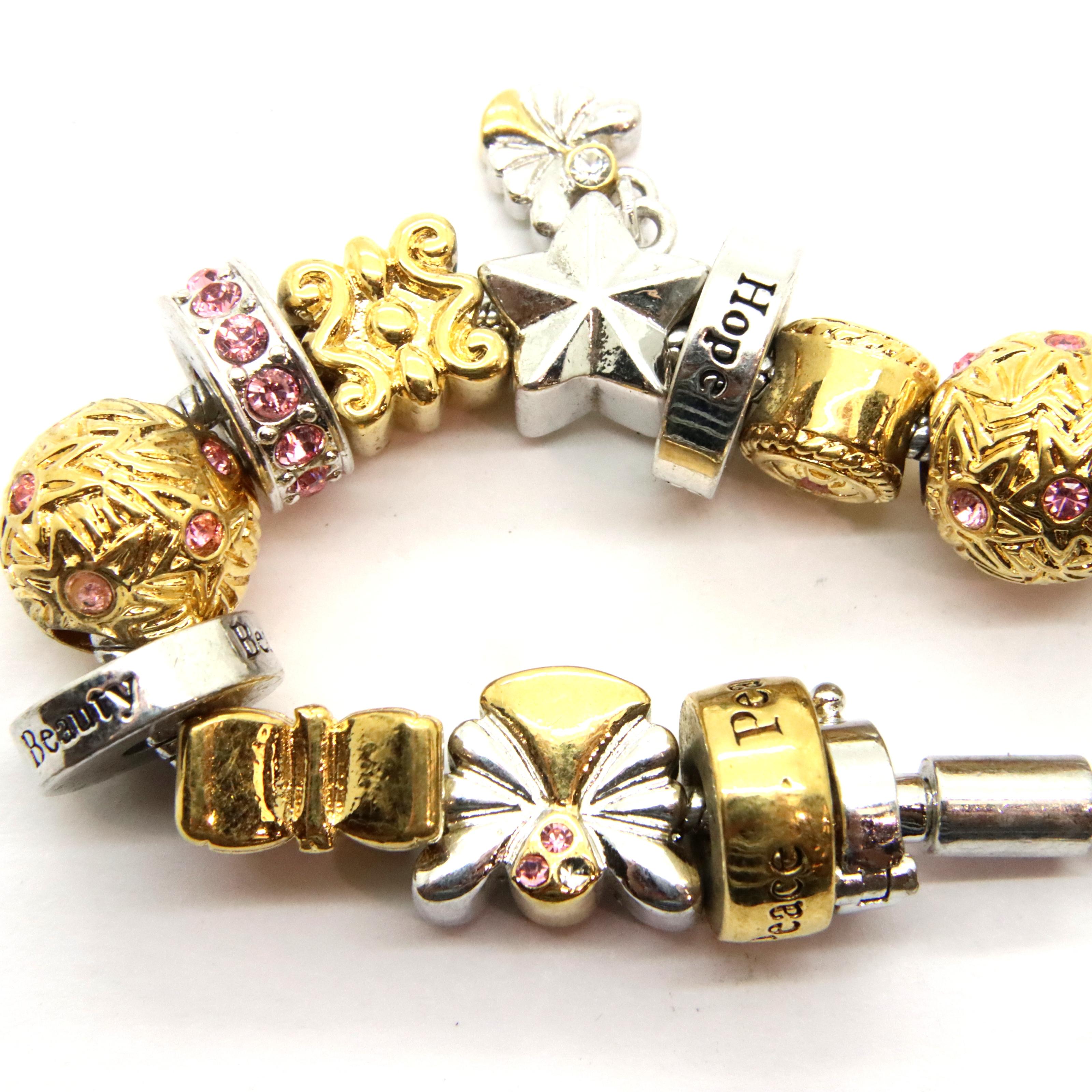 Bradford Exchange charm bracelet, L: 20 cm. P&P Group 1 (£14+VAT for the first lot and £1+VAT for