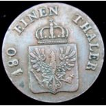 1845 - 180 Einen Thaler - Bavrian States. P&P Group 1 (£14+VAT for the first lot and £1+VAT for