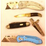 Collection of folding knives. P&P Group 2 (£18+VAT for the first lot and £3+VAT for subsequent lots)