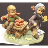 Hummel figurines; Autumn Arrival, 2016 first issue. P&P Group 2 (£18+VAT for the first lot and £3+
