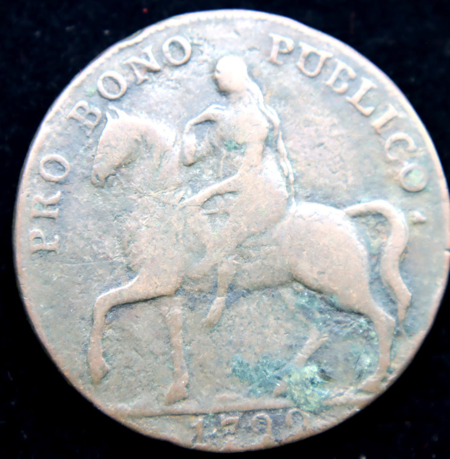 1799 - Copper Half Penny for Coventry - Castle/Elephant. P&P Group 1 (£14+VAT for the first lot