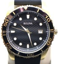 Gents Bulova calendar wristwatch. P&P Group 1 (£14+VAT for the first lot and £1+VAT for subsequent