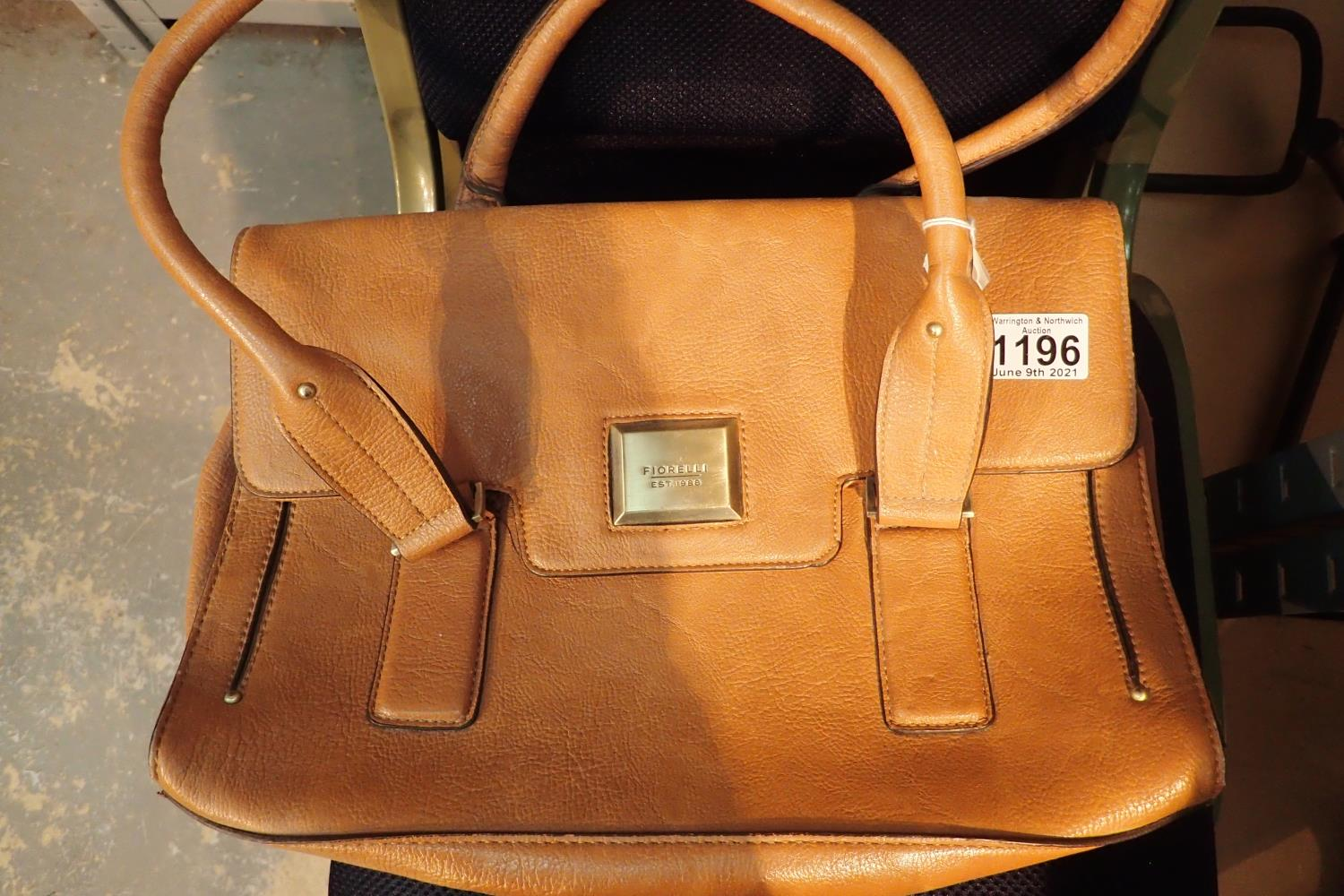 Original tan leather Fiorelli ladies handbag. P&P Group 1 (£14+VAT for the first lot and