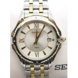 Gentlemans boxed stainless steel wristwatch, Seiko SGEE94. P&P Group 1 (£14+VAT for the first lot