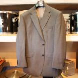 Balmain gents two piece suit, jacket measures 42 inch chest, trousers measure 36 waist and 30 inside