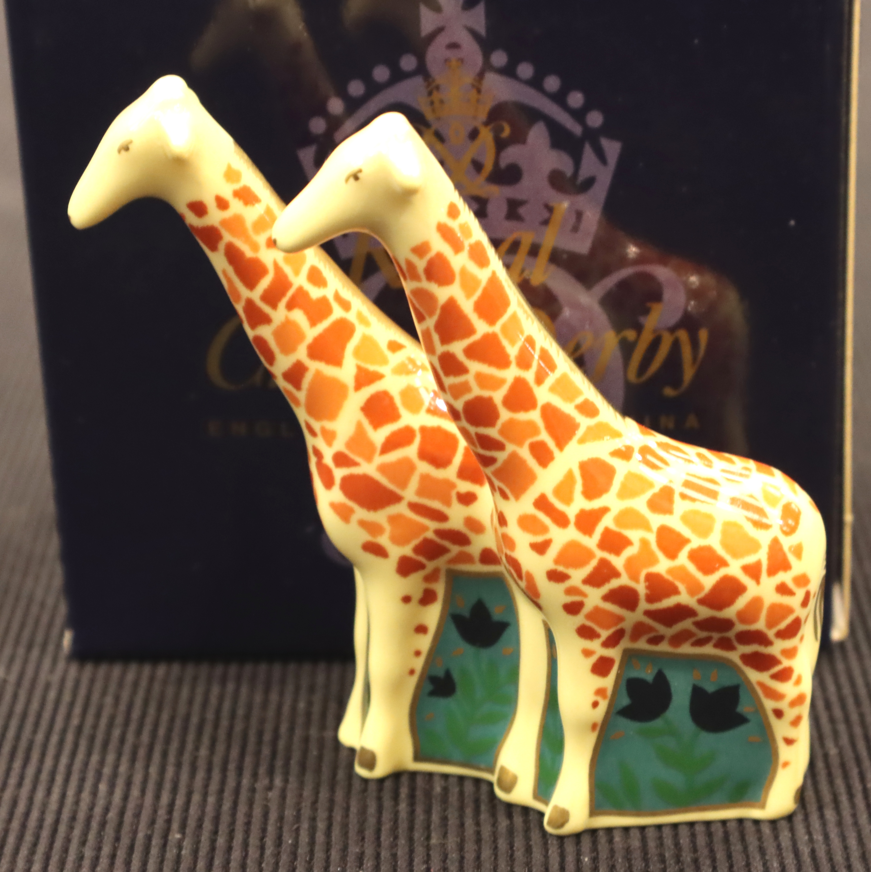 Royal Crown Derby boxed giraffes. P&P Group 1 (£14+VAT for the first lot and £1+VAT for subsequent