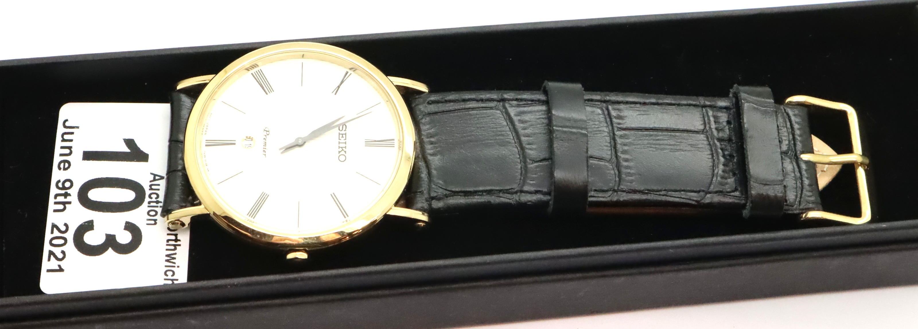 Gents Seiko calendar wristwatch, D: 4 cm. P&P Group 1 (£14+VAT for the first lot and £1+VAT for - Image 3 of 3