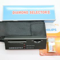 Boxed diamond selector 2. diamond/precious stone tester with new battery. P&P Group 1 (£14+VAT for