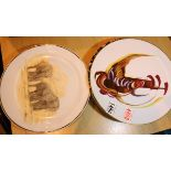 Collection of mixed plates. Not available for in-house P&P, contact Paul O'Hea at Mailboxes on 01925