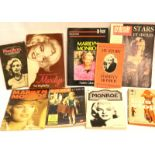Nine mixed Marilyn Monroe books 1950s-1990s. P&P Group 2 (£18+VAT for the first lot and £3+VAT for