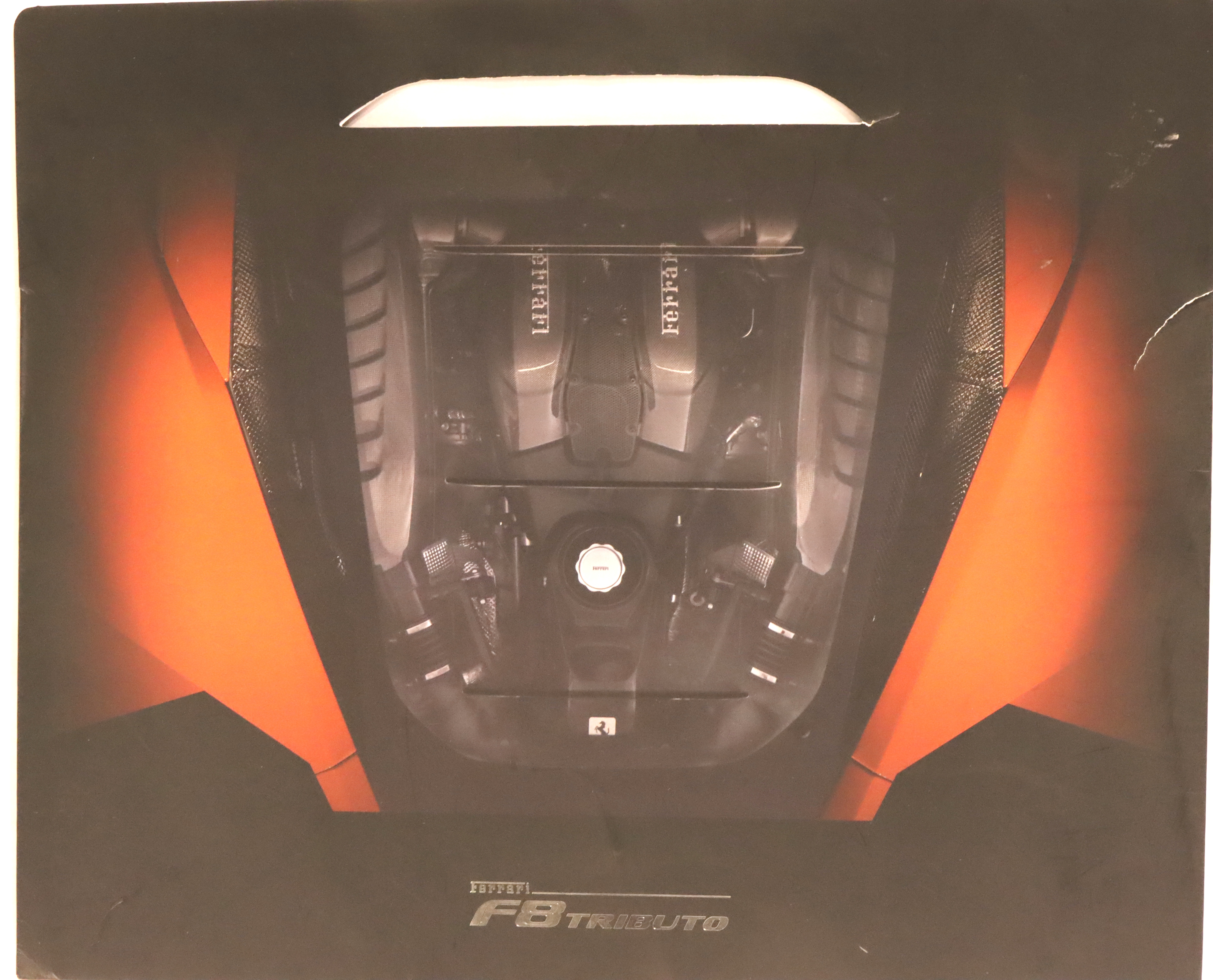 Ferrari F8 Tribute poster inside a sleeve cover. P&P Group 2 (£18+VAT for the first lot and £3+VAT