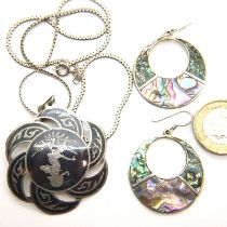 Silver 925 necklace set, combined 16g. P&P Group 1 (£14+VAT for the first lot and £1+VAT for