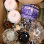 Box of mixed items, glass and ceramics. Not available for in-house P&P, contact Paul O'Hea at