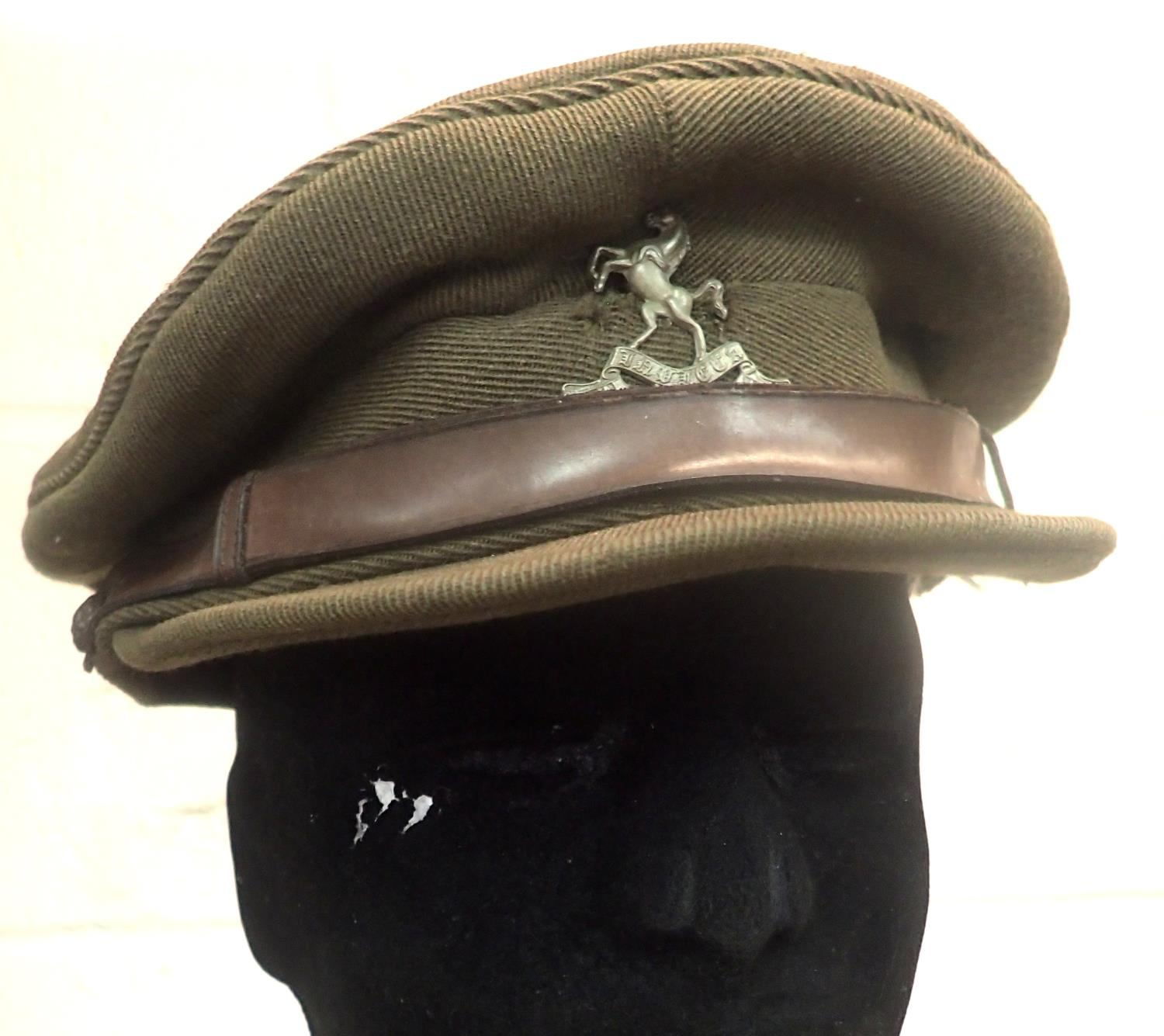 WWII Royal West Kents officers cap, retailed by Herbert Johnson of London, attic find. P&P Group