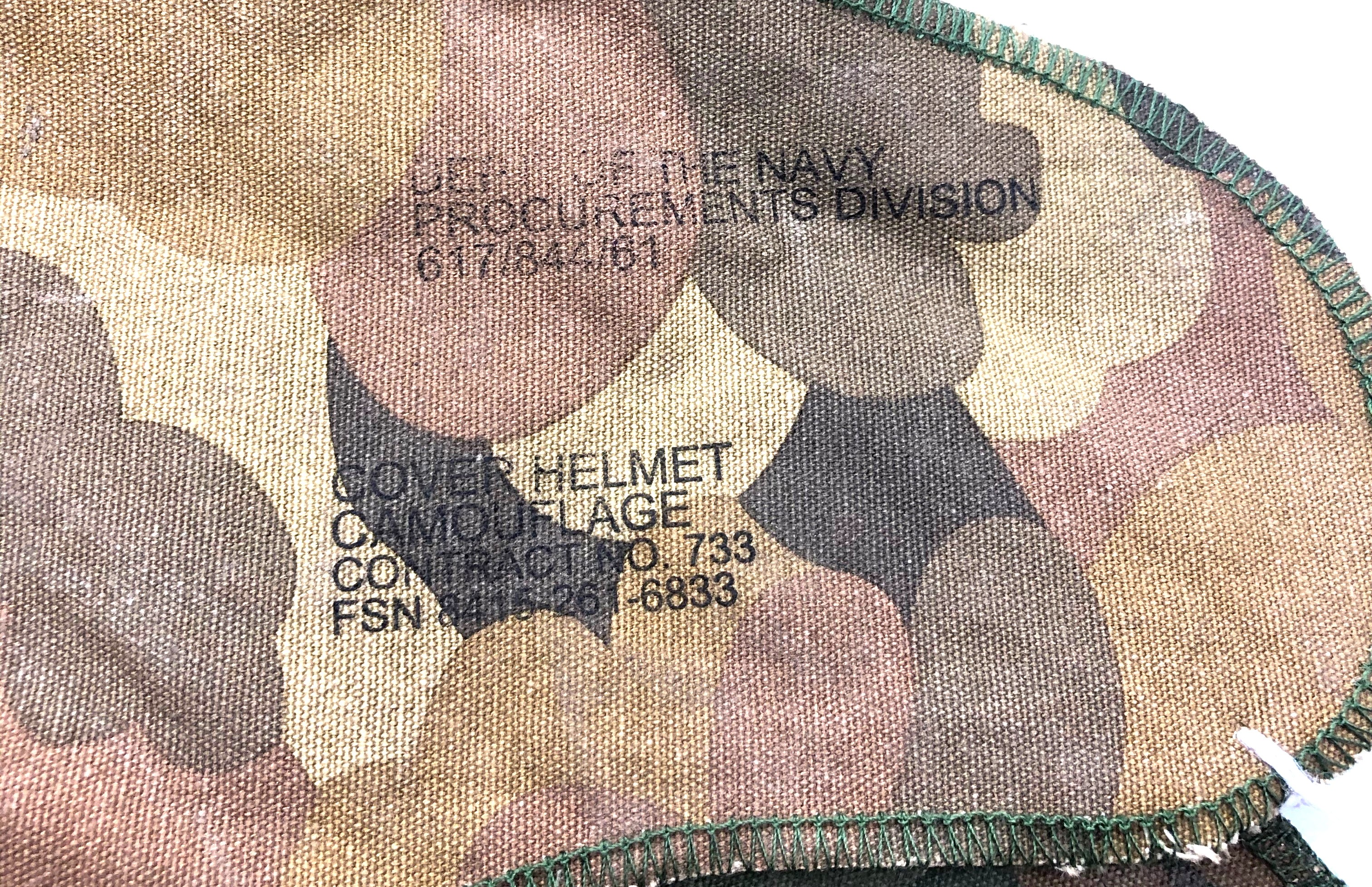 Vietnam War Period US M1 Helmet Reversible Mitch-Duck Hunter Cover. P&P Group 2 (£18+VAT for the - Image 2 of 3