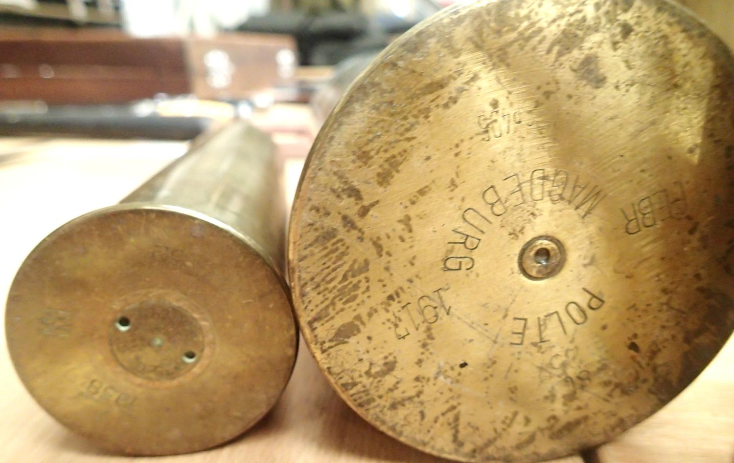 Collection of fourteen inert brass shell cases from various periods. Not available for in-house P&P, - Image 4 of 5