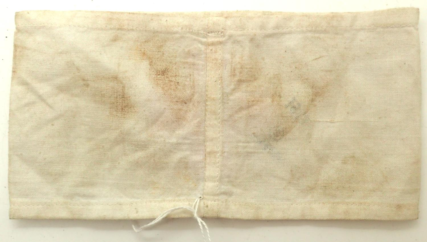 1943 dated German medics armband. P&P Group 1 (£14+VAT for the first lot and £1+VAT for subsequent - Image 2 of 2