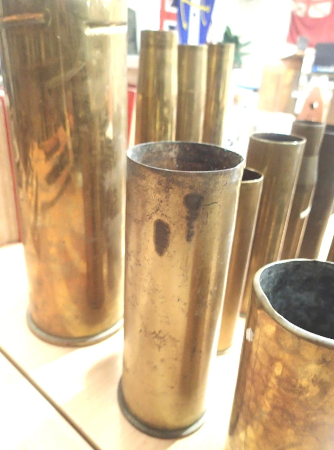 Collection of fourteen inert brass shell cases from various periods. Not available for in-house P&P, - Image 3 of 5