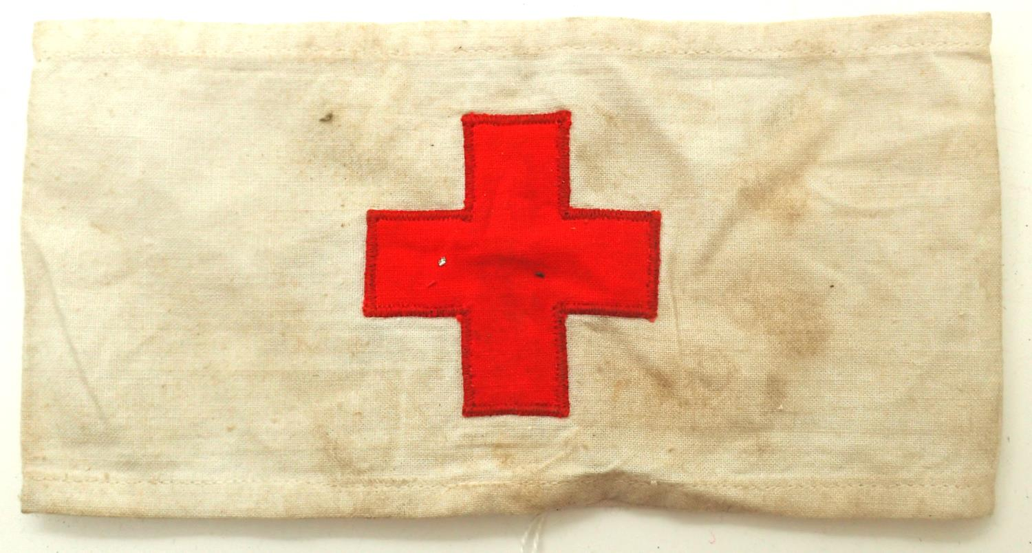 1943 dated German medics armband. P&P Group 1 (£14+VAT for the first lot and £1+VAT for subsequent