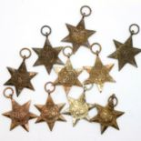 Ten British WWII Burma Stars. P&P Group 2 (£18+VAT for the first lot and £3+VAT for subsequent lots)