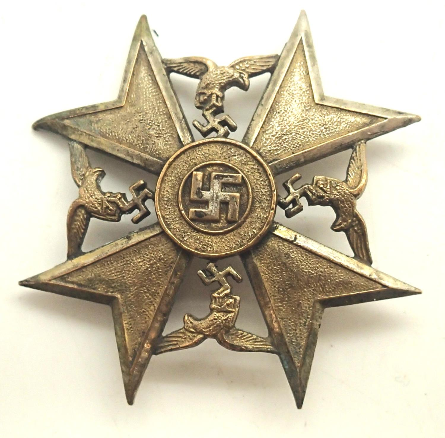 1960s copy German Condor Legion Spanish cross 1st class, museum quality. Not available for in-