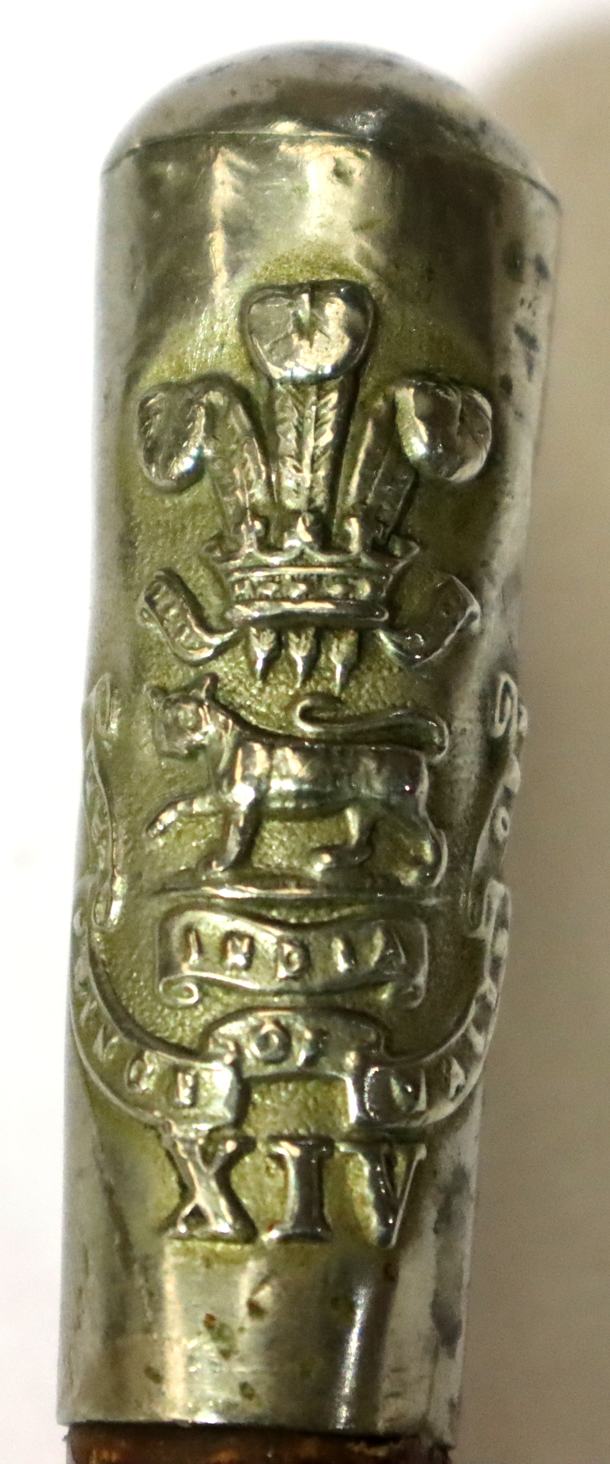 Victorian British NCOs swagger stick, 14th Foot (later West Yorkshire Regiment) dates to 1878-