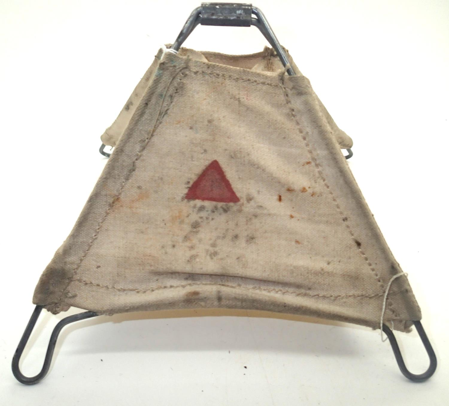 British WWII canvas folding mine marker. P&P Group 1 (£14+VAT for the first lot and £1+VAT for