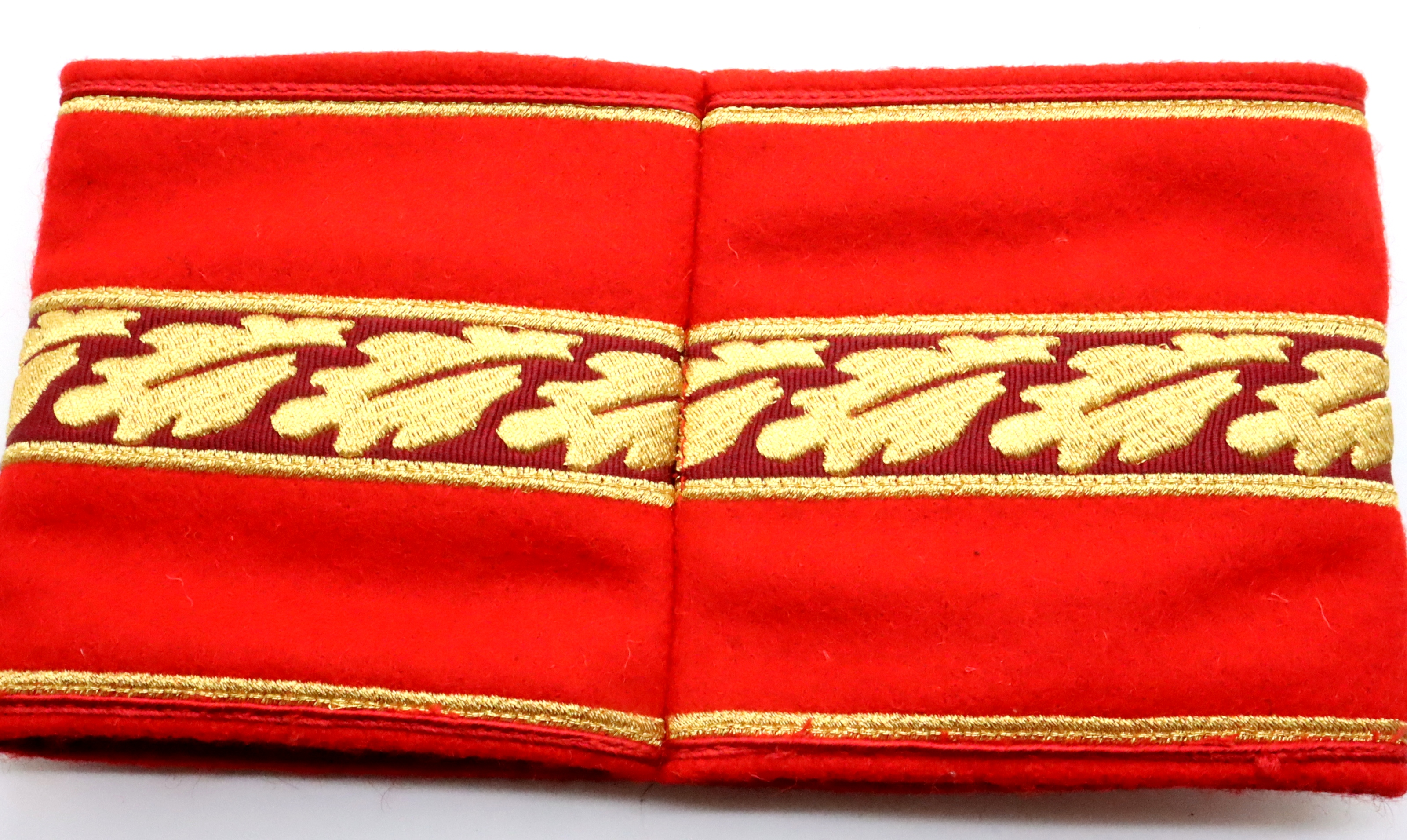 German WWII re-enactment political embroidered wool armband of three piece construction. P&P Group 1 - Image 2 of 2