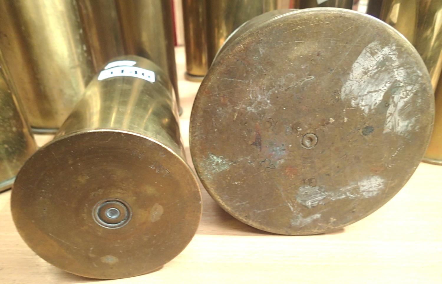 Collection of fourteen inert brass shell cases from various periods. Not available for in-house P&P, - Image 2 of 5