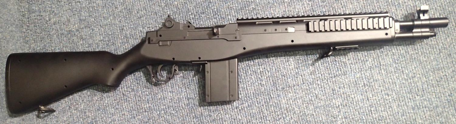 Replica BB firing M14 Carbine gun. P&P Group 3 (£25+VAT for the first lot and £5+VAT for - Image 2 of 2