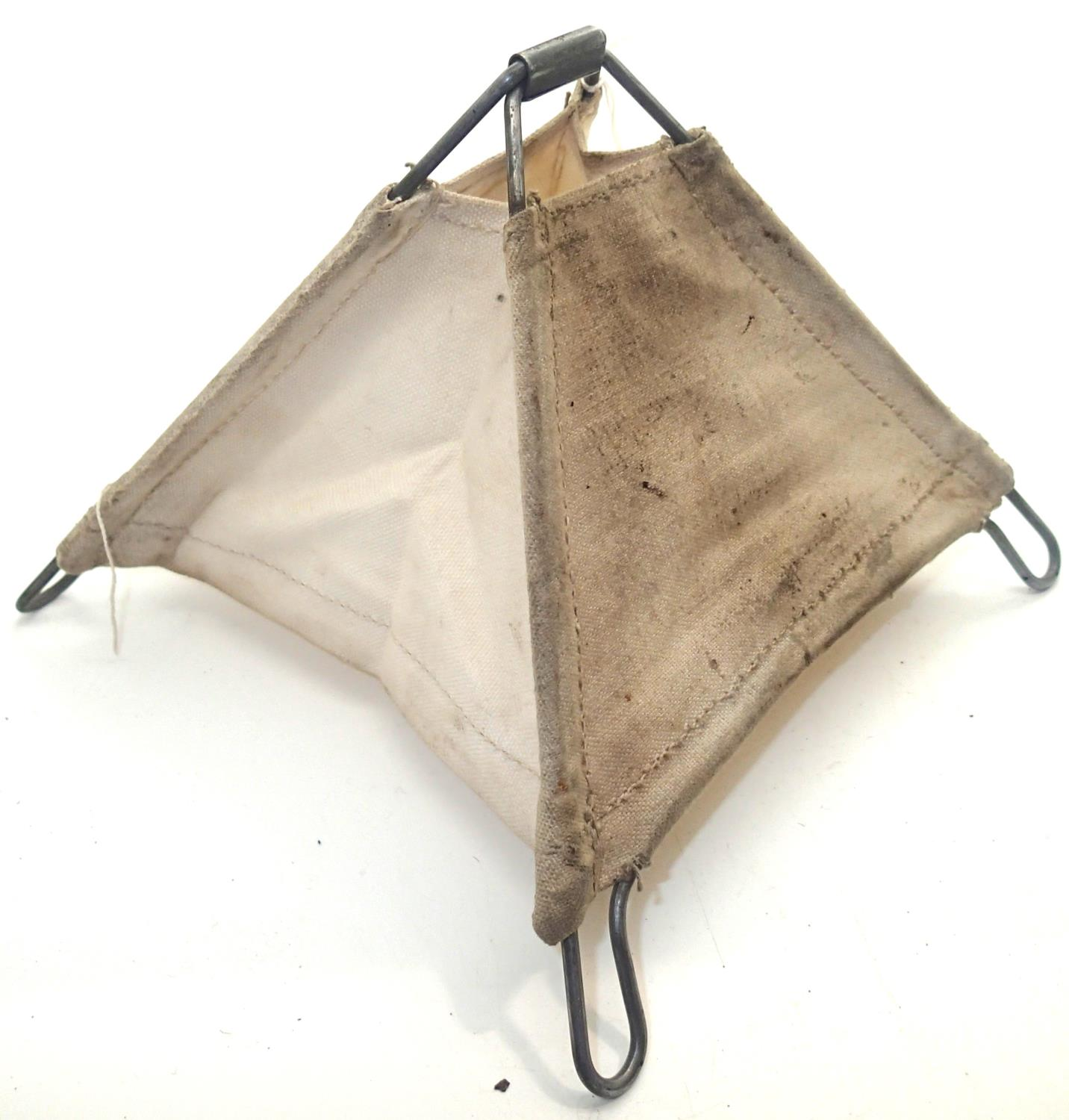 British WWII canvas folding mine marker. P&P Group 1 (£14+VAT for the first lot and £1+VAT for - Image 2 of 2