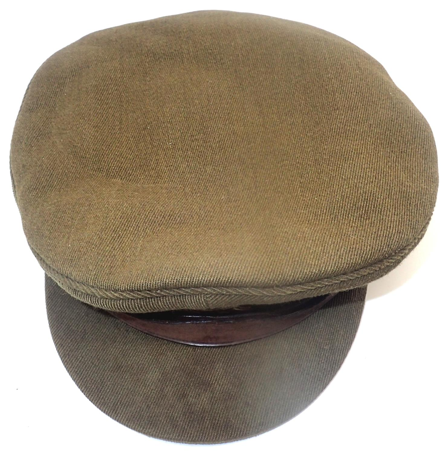 WWII Royal West Kents officers cap, retailed by Herbert Johnson of London, attic find. P&P Group - Image 3 of 3