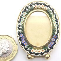 Miniature Micro Mosaic photo frame, L: 4.5 cm. P&P Group 1 (£14+VAT for the first lot and £1+VAT for