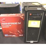 High-end PC large desktop system unit. Suitable for upgrade or use for parts. No hard drive