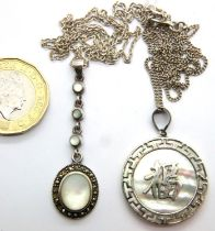 Two silver pendant necklaces, combined 12g. P&P Group 1 (£14+VAT for the first lot and £1+VAT for