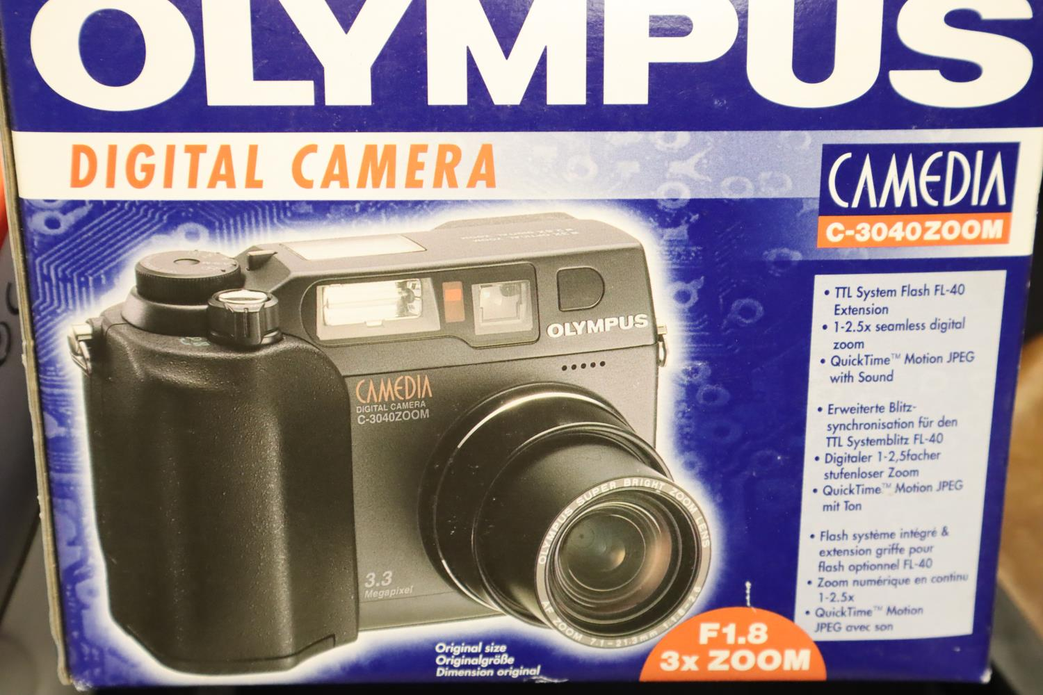 Two new old stock Olympus digital camera C3040 zoom. P&P Group 3 (£25+VAT for the first lot and £5+ - Image 2 of 2