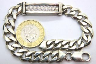 925 silver ID bracelet, L: 21 cm. P&P Group 1 (£14+VAT for the first lot and £1+VAT for subsequent
